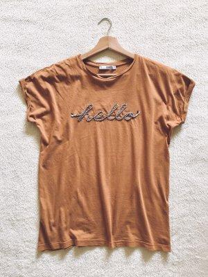 Mango Shirt braun cognac Gr. S