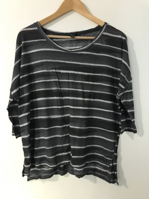 Mango Shirt grau Streifen M