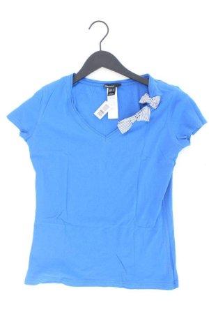 Mango Shirt Größe L blau aus Baumwolle