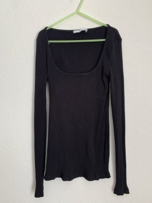 Mango Ribbed Shirt black