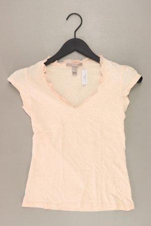 Mango Shirt mit V-Ausschnitt Größe S Kurzarm creme
