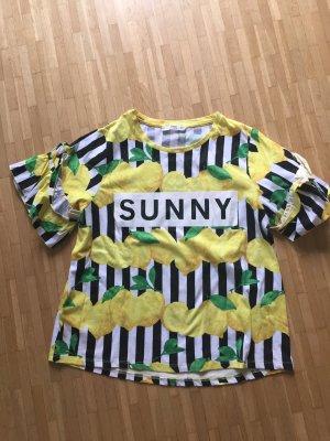Mango Shirt mit Zitronen Print S (M) NEU sommerliche Impressionen