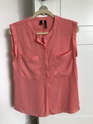 Mango Shirt ohne Arm Bluse Lachsfarben Koralle S
