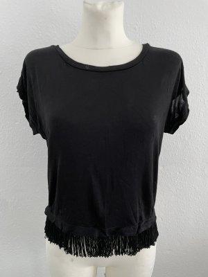 Mango Shirt Tshirt schwarz gr M Franzen