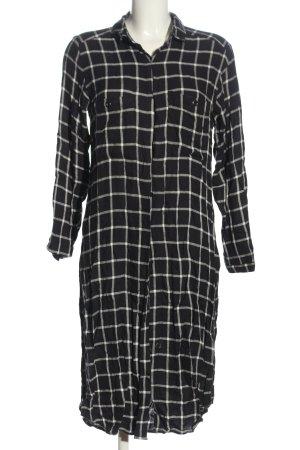 Mango Shirt Dress black-white allover print business style