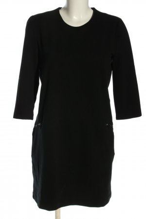 Mango Vestido estilo camisa negro look casual
