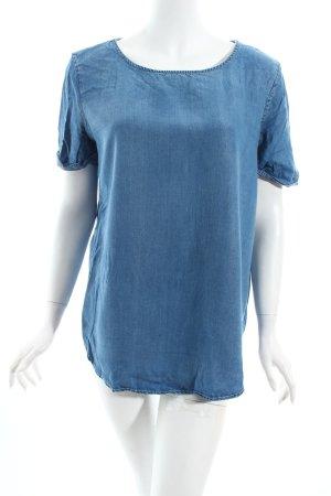 Mango Shirttunika stahlblau Jeans-Optik