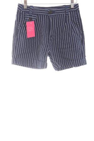 Mango Shorts blau-weiß Streifenmuster Casual-Look