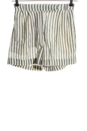 Mango Shorts hellgrau-weiß Streifenmuster Casual-Look