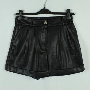 MANGO Shorts Gr. S schwarz Fake Leather (21/01/020*)