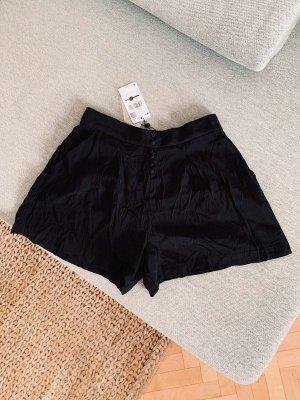 Mango High waist short zwart Viscose