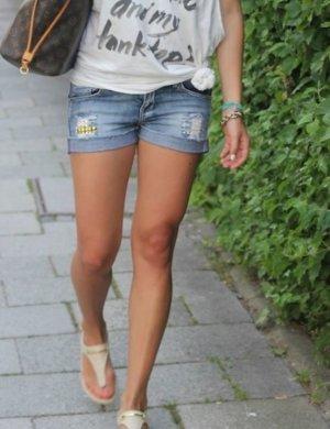 Mango Shorts Nieten Insta Blogger XS 34 Hotpants Jeans