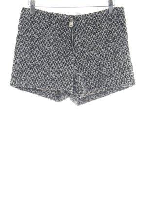 Mango Shorts schwarz-weiß Webmuster Casual-Look