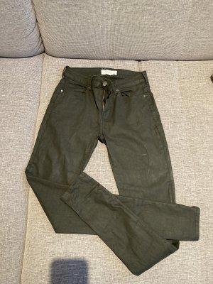 Mango - Skinny Coated Jeans grün