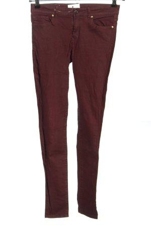 Mango Skinny Jeans braun Casual-Look