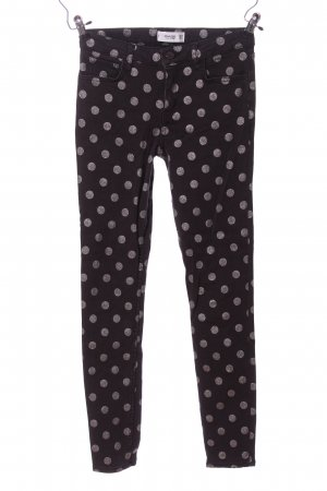 Mango Skinny Jeans schwarz-weiß Allover-Druck Casual-Look