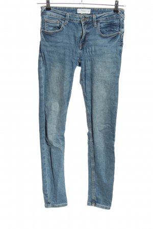 Mango Skinny Jeans blau Street-Fashion-Look