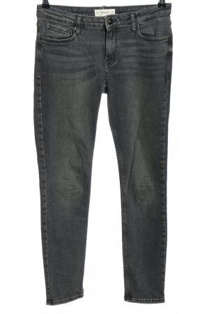 Mango Skinny jeans zwart gestippeld casual uitstraling