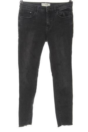Mango Jeans slim gris clair style décontracté