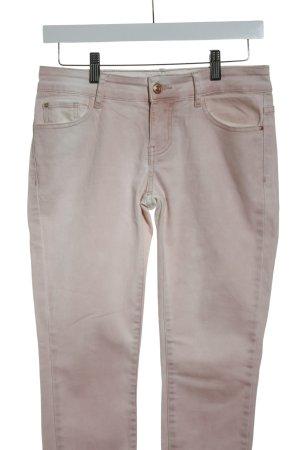 Mango Slim Jeans rosa-wollweiß Logo-Applikation