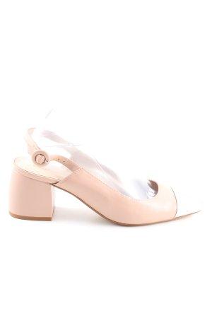 Mango Slingback-Pumps pink-wollweiß Elegant