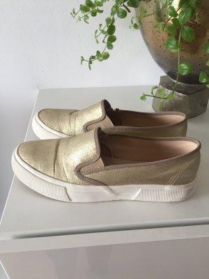 Mango Lage schoenen wit-goud