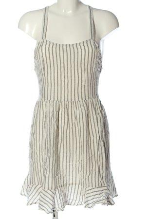 Mango Sommerkleid wollweiß-schwarz Streifenmuster Casual-Look