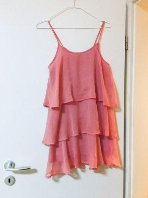 Mango Sommerkleid pink rosa Stufenkleid