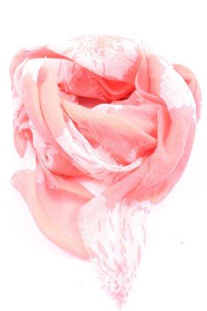 Mango Sommerschal pink-creme Casual-Look