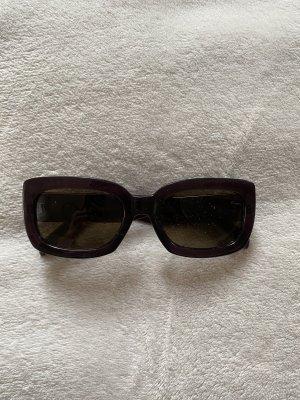 Mango Angular Shaped Sunglasses dark brown-brown violet