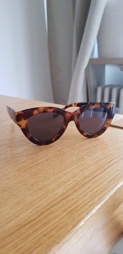 Mango Gafas de sol ovaladas marrón oscuro-coñac