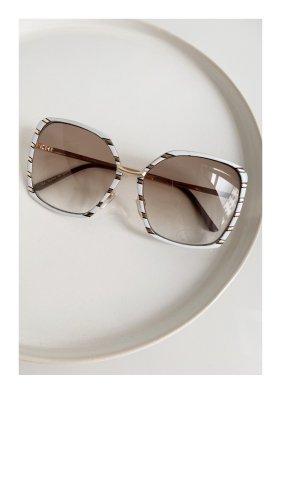 Mango Sonnenbrille Weiß Gold Brille sunglasses shades