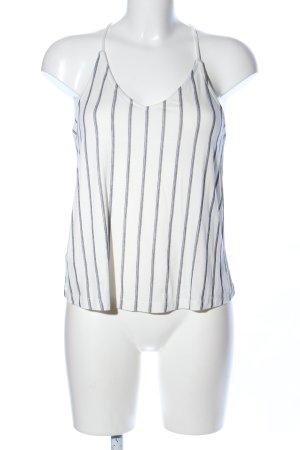 Mango Top de tirantes finos blanco-gris claro estampado a rayas look casual