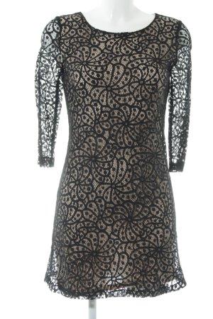 Mango Lace Dress black-cream elegant
