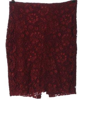 Mango Lace Skirt red elegant
