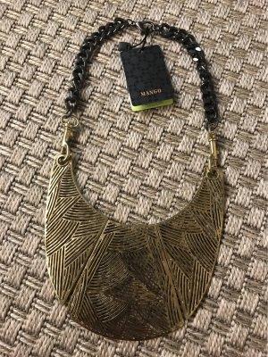 Mango Statement Kette Halskette gold schwarz Edel