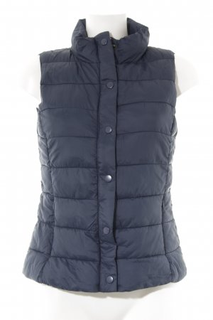 Mango Quilted Gilet dark blue casual look