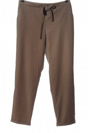 Mango Stoffhose braun grafisches Muster Casual-Look