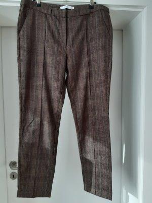 Mango Pantalón tipo suéter marrón claro-marrón