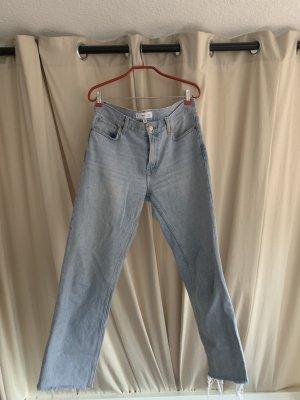 Mango Jeans coupe-droite multicolore coton