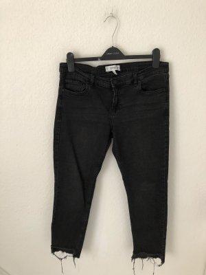 Mango Straight Jeans Grauschwarz
