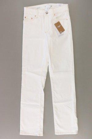 Mango Jeansy z prostymi nogawkami w kolorze białej wełny Bawełna