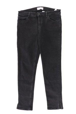 Mango Jeansy z prostymi nogawkami czarny Bawełna