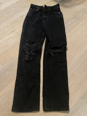 Mango straight Jeans Schwarz/ dunkel grau gr. 32