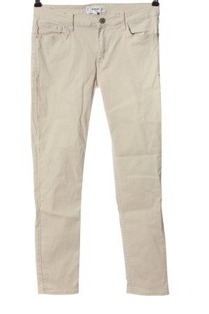 Mango Jeansy z prostymi nogawkami kremowy W stylu casual