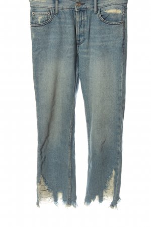 Mango Jeansy z prostymi nogawkami niebieski Wygląd w stylu miejskim