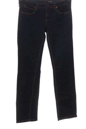 Mango Jeansy z prostymi nogawkami niebieski W stylu casual