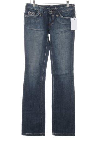 Mango Jeansy z prostymi nogawkami ciemnoniebieski W stylu casual