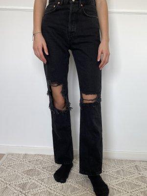 Mango straight leg Jeans Schwarz gr. 32