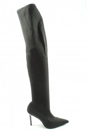 Mango Stretch Boots black casual look